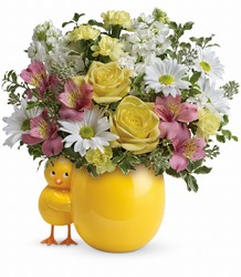 Teleflora's Sweet Peep Bouquet - Baby Pink from Swindler and Sons Florists in Wilmington, OH